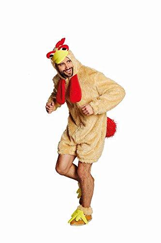 Hahn Hahnkostüm Tunika Tierkostüm Hahnoverall Kostüm für Herren