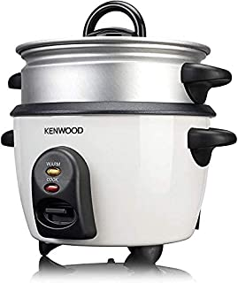 Kenwood 2 in 1 Rice Cooker with Steamer, White, RCM280