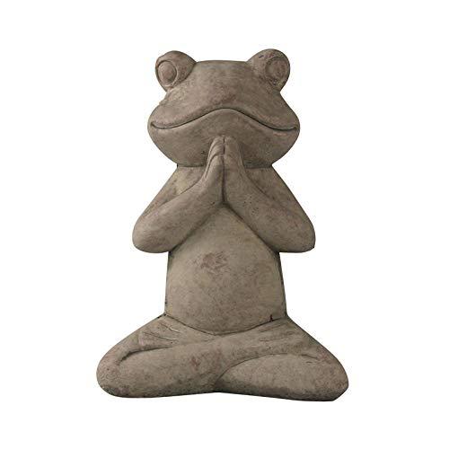 Pflanzen Kölle Frosch grau Yoga Cement, ca. 19 cm