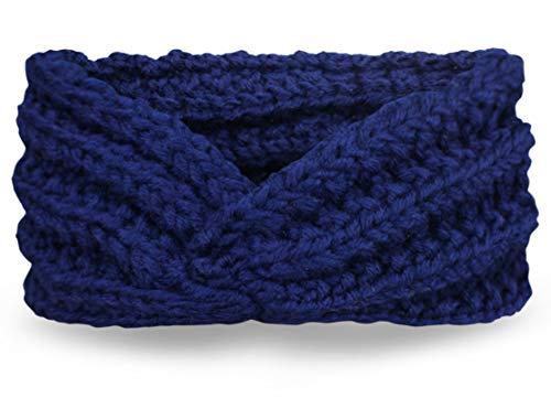 PiriModa - Fascia invernale per capelli, da donna Blu scuro Taglia unica