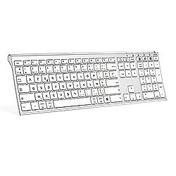 Clavier Bluetooth multi-appareils : Ce clavier sans fil vous permet de connecter trois appareils en même temps via le mode Bluetooth (3 appareils Bluetooth). Vous pouvez facilement changer d'appareil en appuyant sur le bouton de l'interrupteur. Veuil...