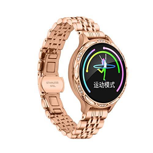 LHTCZZB RECORDATORIO DE PERIODO MESSTRUAL Pulsera inteligente Bluetooth Pantalla táctil completa Reloj de fitness Tracker Monitoreo de ritmo cardíaco Modo deportivo Modo de deporte Duración de la bate