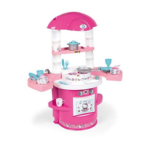 Smoby Hello Kitty - Cocina Cooky con 17 Accesorios, para Niños a partir de 3 Años - 72 x 30 x 80 cm