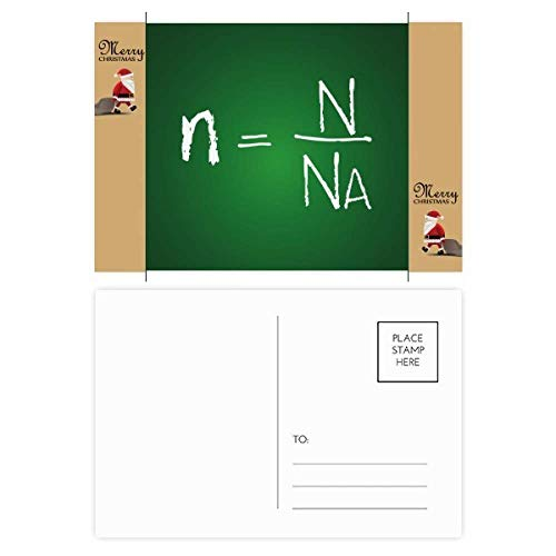 Chemie Kowledge Substance Formule Kerstman Gift Ansichtkaart Thanks Card Mailing 20 stks