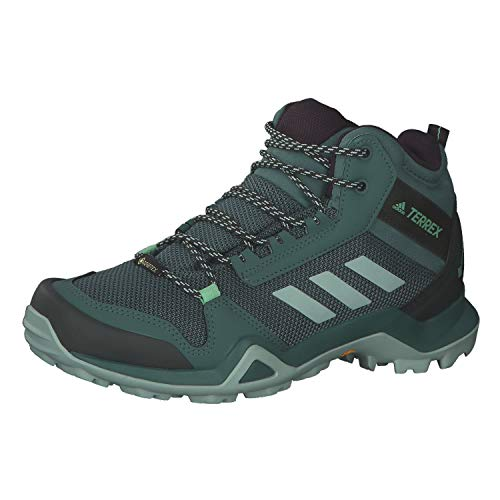 adidas Damen Terrex AX3 Mid Gore-TEX Walking Shoe, Tech Emerald/Green Tint/Glory Mint, 41 1/3 EU