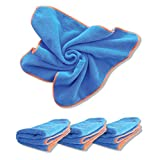 Antimicrobial, Antibacterial Microfiber Cleaning Cloths with DG-300 Silverclear, a Proven Killer of Viruses and Bacteria. Go Beyond Ordinary Cleaning. 4 Washable and Reusable Cloths