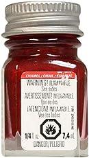 Testor'S 1105tt 1/4 Oz Stoplight Red Metallic Enamel Hobby Paint