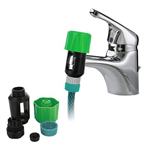 Grifo de Agua Universal para Adaptador de Conector de Manguera de Jardín Conectores de Montaje Rápido Mezclador Adaptador de Grifo de Baño de Cocina Interior Al Aire Libre