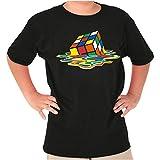 Melted Cube Rubik's Crewneck T Shirts Boy Girl Black