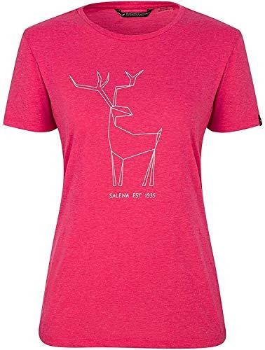 Salewa damska koszulka W Deer S/S, wirtualny różowy melange, rozmiar 46/40