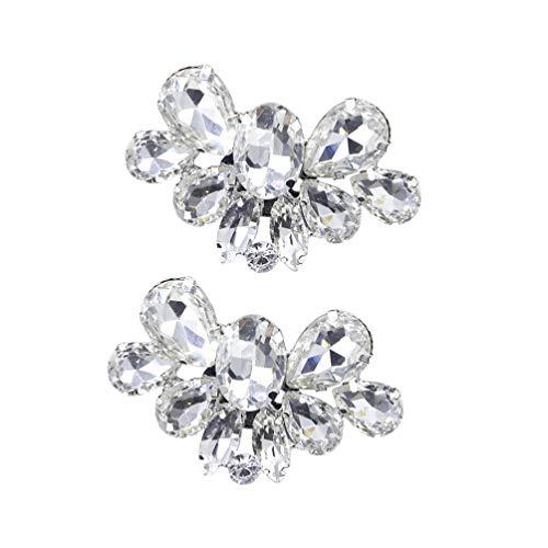 Happyyami 1 par de Hebilla de Zapato de Diamantes de Imitación Rhinestone...