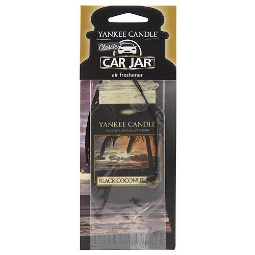 YANKEE CANDLE Schwarze Kokosnuss Auto & Haus Lufterfrischer Car Jar Karton, Plastik, 7.8 x 19.7 x 1 cm