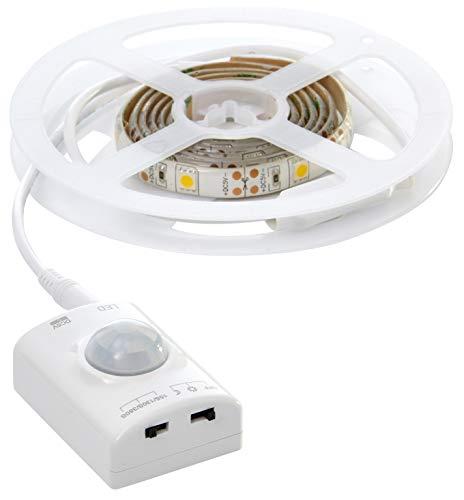 Northpoint LED Streifen Strip Sensor 1m Bewegungsmelder aufladbar kabellos 150 Lumen Innenbereich Unterbauleuchte Schrankleuchte Bettbeleuchtung 1100mAh Li-Io Akku 30 LEDs