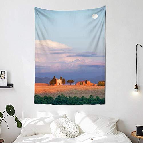 Fantasía lienzo pintura paisaje cielo tapiz pared habitación dormitorio cabina Luna cielo vista animación en casa 150x100cm