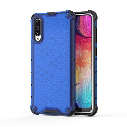 GUOQING Funda de teléfono de color puro a prueba de golpes para Samsung Case, TPU + PC Back Case Cover (color: azul, tamaño: para Samsung A50S A50 A30S)
