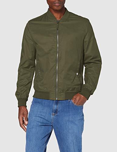 Springfield Bomber Basica-c/26 Chaqueta Deportiva, Verde (Green 283722626), M (Tamaño del Fabricante: M) para Hombre