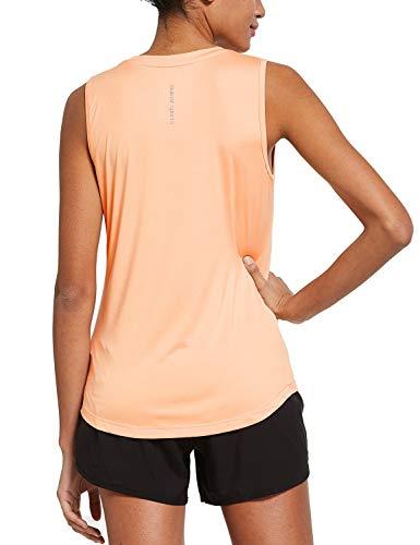BALEAF Ärmelloses Workout-Shirt, für Damen, für Sport und Fitness - hellorange, size: X-Groß