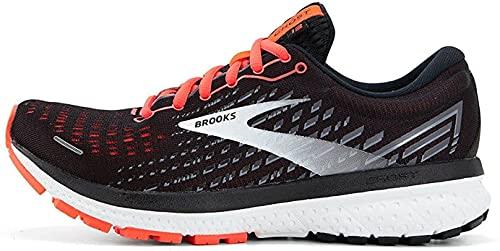 Brooks Damen Ghost 13 Laufschuh, Black Ebony Coral, 38.5 EU