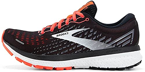 Brooks Ghost 13, Zapatillas para Correr Mujer, Black/Ebony/Coral, 41 EU