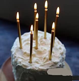 Astra Gourmet 12 Count Swirl Birthday Party Candles Creative Coil Candle for Birthday Cakes Decorations Silver