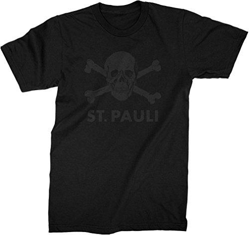 Fc St Pauli Mens St Pauli Black Skull T Shirt, Size: Small, Color: Black