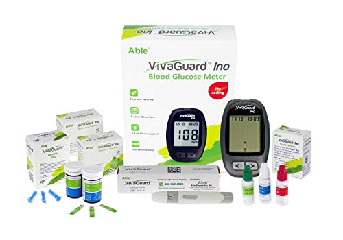 VivaGuard High Accuracy (8 Electrode Sensing) Blood Sugar Test Kit Diabetes Testing Kit with Blood Glucose Meter, 100 Test Strips, 100 Lancets, Lancing Device, and Control Solution