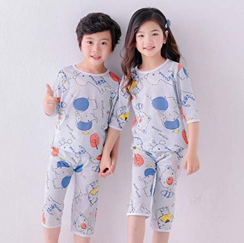 娯楽偽善者退屈キッズ6 8 10 12 14年間、ボーイズ?ガールズパジャマ2020年夏の長袖子供服パジャマコットンポプリンパジャマセット 2020年に人気の子供向けのかわいいパジャマ (Color : C21, Kid Size : 2T (90 100 cm))