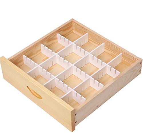 qwess Schubladenabtrennung DIY freie Kombination Küche Lagerung Zuhause Kleiderschrank Finishing Partition Partition Box Box Länge 59,6 cm hoch 11 cm 5 Stück