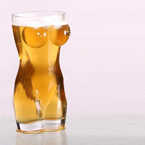 LTE Sexy para Mujer y Hombre Vaso Creativo Vaso de Whisky Vino Vaso de Vino pequeño Vaso de Cerveza de Pecho Grande 700 ml, Ver Tabla