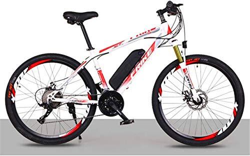 Bici electrica, 27 de velocidad de bicicletas de montaña eléctrica, Engranajes de bicicletas de doble freno de disco extraíble de bicicletas de gran capacidad de iones de litio de 36V 8 / 10AH Todo Te