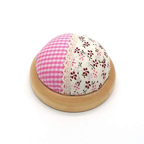 BiaBai Agujas Soporte de Estampado Floral de Madera Broches de algodón Cojín de Bricolaje Almohada Cruzada