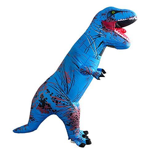 AmaMary t-rex kostüm Erwachsene, Erwachsene aufblasbare Tyrannosaurus Rex Dinosaurier Kostüm Cosplay Blow Up Outfit (blau)