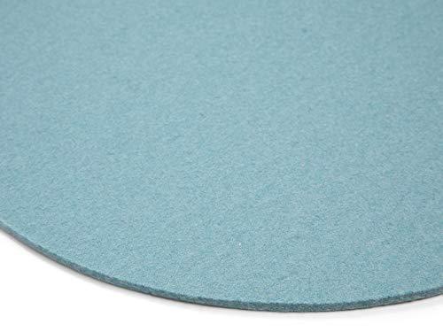 Modulor Filz-Sitzauflage für Stühle, rundes Sitzkissen aus 100% Wollfilz, auch als dekoratives Tischset geeignet, 33 cm im Durchmesser (Aqua)