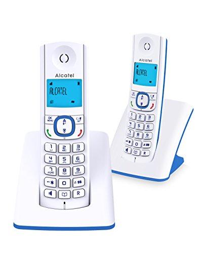 Alcatel F530 Telefono DECT Identificatore di chiamata Blu, Bianco