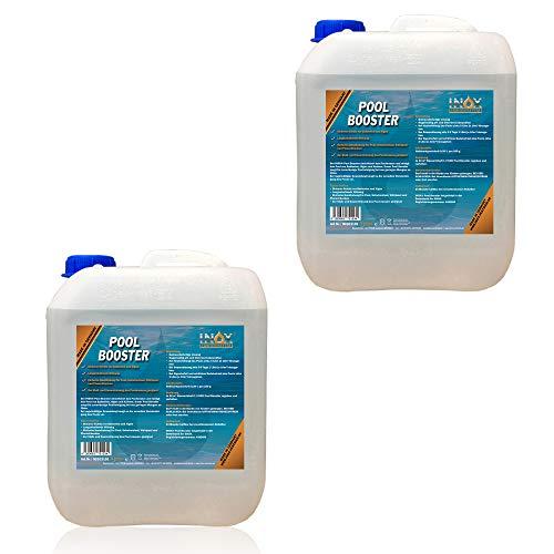 INOX® Pool Booster, 2 x 5L - Poolreiniger Algenentferner Pooldesinfektion