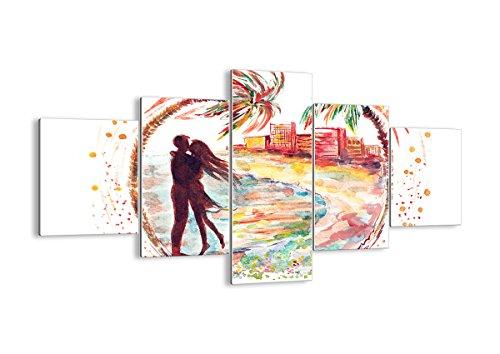 Décoration Murale - Triptyque Mural avec Un Nombre Différent D'élément - Impression sur Verre - pour la Chambre et Le Salon - Divers imprimés - GEA125x70-2989