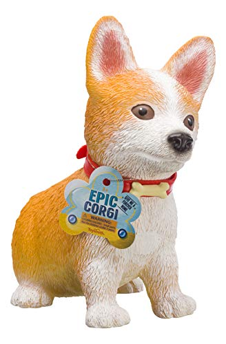 Toysmith Epic Puppies - Corgi Puppy Dog Realistic Pet Play Toy Figure for Kids (15 Inches Tall)