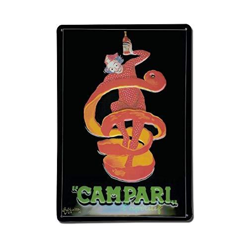 Cheyan Campari Pagliaccio Blechschild Aluminium Schilder 20,3 x 30,5 cm