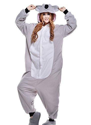 wotogold Animal Koala Pyjamas Unisexe Cosplay Costumes adultes Gray