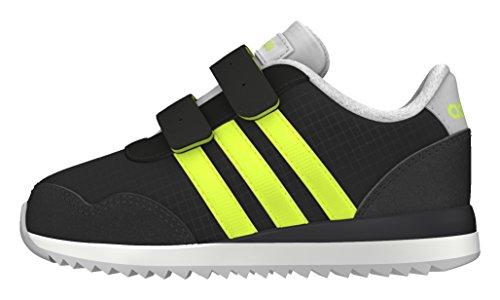 adidas V Jog CMF INF, Zapatos de Primeros Pasos para Bebés, Negro (Negbas/Amasol/Onicla), 21