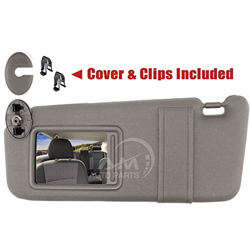 IAMAUTO 31679 Left Driver Gray Sun Visor for 2007-2011 Toyota Camry Without Vanity Light (Left, Gray)