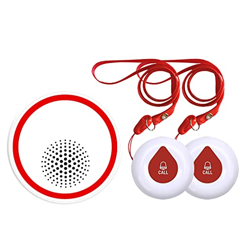 呼び出しベル 介護 ボナスウェ ワイヤレスチャイム,インターホン 呼び出しチャイムセット 防水 防塵 無線 玄関ドアベル 33メロディー 5段階音量調節 受信機1個 送信機2個 オフホワイト (3DB+O1-2)