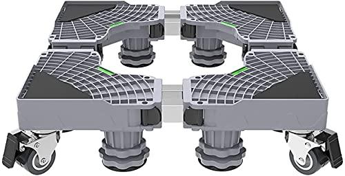 Ghongrm Aparato multifuncional Soporte de base ajustable Altura del stent 10-12 cm Bandejas para el piso de la lavadora Secadora del refrigerador Soporte del enfriador de vino Carrera de la carretilla