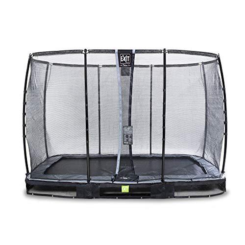 Trampoline - EXIT Elegant Premium inground (incl. deluxe veiligheidsnet) - 214 x 366 cm - Zwart