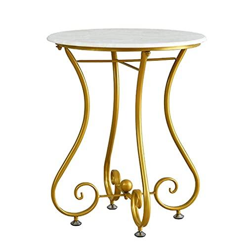 GAXQFEI Tavolo Tavolino da Caffè in Ferro Battuto Tavolino da Caffè Elegante Salotto Europeo Tavolo Rotondo Divano Tavolo Balcone Tavolino da Caffè Mini Tavolo Semplice Durevole,55 * 65 cm