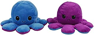 Honfei Double-sided Flip Octopus Plush Toy, Cute Reversible Octopus Doll, Soft Stuffed Animals Doll,Toys Gift for Boys Gir...