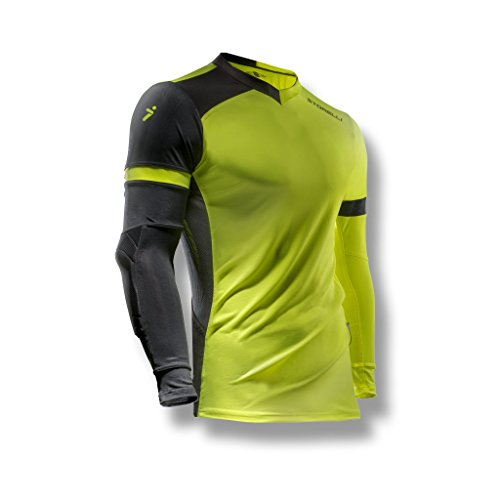 Storelli ExoShield Gladiator Goalkeeper Jersey | Padded Elbow Sleeves | Lightweight Soccer Jersey Shirt | Strike | Youth Large