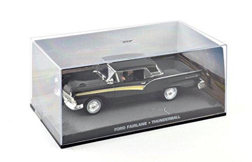 Metal Modellauto 1:43 Diorama Ford Fairlane schwarz James Bond 007 Thunderball