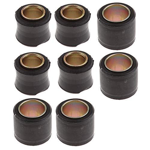 perfk 8 STK. Universal Gummi Buchsen für Hinterer Stoßdämpfer, 14mm +12mm Größe