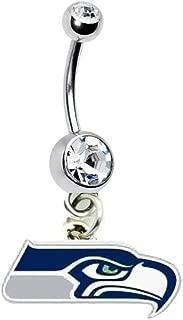 Seattle Seahawks Football Team Navel Belly Button Ring Body Jewelry Piercing 14 Gauge
